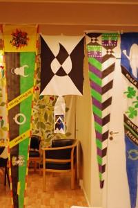 Färdigmålade flaggor