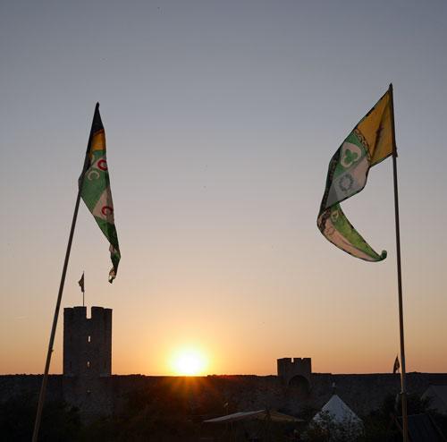 Flaggorna flyger på Visby 2014
