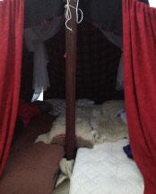 Sovarrangemang i tältläger