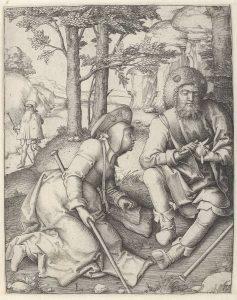 resting pilgrims, van Leyden